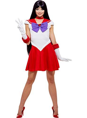Funidelia | Disfraz de Marte - Sailor Moon Oficial para Mujer Talla M ▶ Anime, Cosplay, Bunny Tsukino, Dibujos Animados - Color: Rojo - Licencia: 100% Oficial