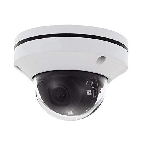 WXGY Cámara Domo IP de Seguridad PoE - Cámara infrarroja de 360 Grados con rotación PTZ 3X Zoom 2 Millones de monitores de Red para instalación en el Techo