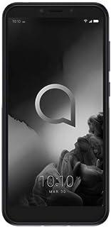 "Alcatel 1S Unlocked Smartphone 5024J - 5.5"" HD+, 32GB + 3GB RAM Android 9 Pie, 16MP Rear Camera, Dual SIM 4G LTE Face Unlock Fingerprint - International Version (Black)"