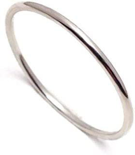 Very Thin 1mm Solid Platinum Ring Pt900 Gift for precious one and your self