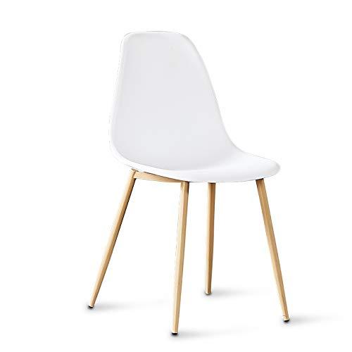 Designetsamaison Chaise scandinave Blanches - Ela