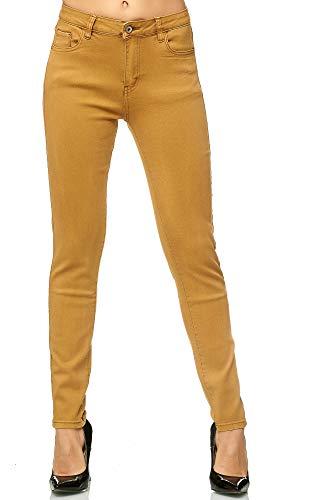 Elara Pantalones para Mujer Jeans Elástico Chunkyrayan