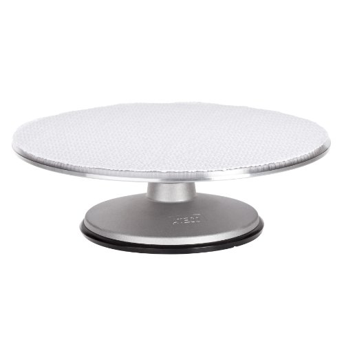 Ateco 613 Revolving Cake Decorating Stand Aluminum Turntable and Base with NonSlip Pad 12Inch Round