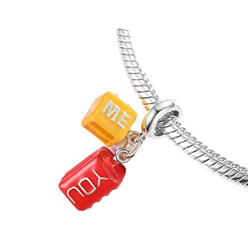 You and Me Beads 100% Colgantes De Plata De Ley 925 para Hacer Joyas Se Adapta Al Brazalete De Pulseras Originales De Europa