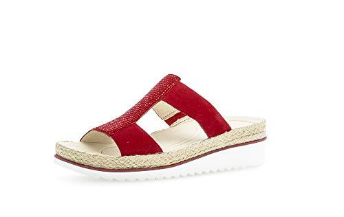 Gabor Damen ClogsPantoletten, Frauen Clogs,Best Fitting, elegant Women\'s Women Woman Freizeit leger Slipper Slides hauschuh Lady,Rubin,39 EU / 6 UK