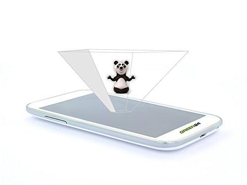 GREEN24 purital® 3D Handy Hologramm Pyramide Projektor Folie - Laser Holographic (3er Set Smartphone)