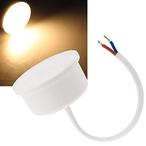Modulo LED 230 V, 7 Watt, 24 mm, piatto, 560 lumen, luce bianca calda, 4200 K, ricambio per lampadine GU10 da soffitto, faretti da incasso