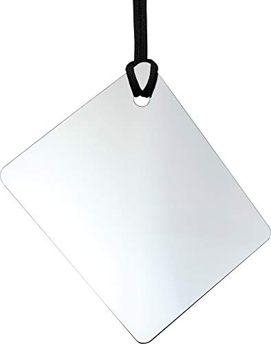 ReflectX Travel Shower Mirror - Light and Durable - Made in The U.S.A. - Shatterproof - Easily Eliminate Fog and Shadows for a Clear Fog Free Reflection. (unclad)