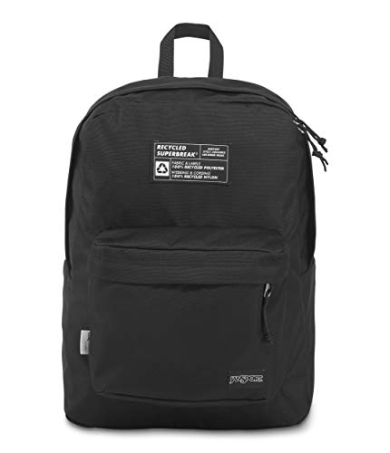 JanSport Recycled SuperBreak Backpack - Sustainable and Eco-Friendly Bookbags, Black