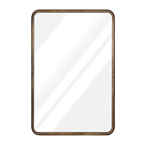 20 x 30 Large Rectangle Mirror - Beautiful Brushed Bronze Wall Mirror - Accent Mirror - Metal Framed Decorative Mirrors for Wall - Hanging Mirror - Large Wall Mirror for Bathroom & Entryway