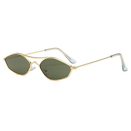 Vintage Irregular Metal Doble Puentes Doble Gafas de Sol Clear Ocean Lens Eyewear Señoras Gafas de Sol UV400 Adecuado para Conducir al Aire Libre y Pesca-C4