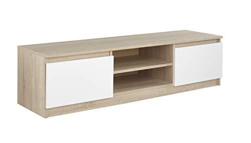 TV-Schrank, Buche, für Flachbildschirme bis zu 65 Zoll, 1400 mm breit