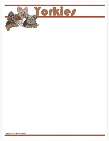 National products Animal OFFicial Theme Gifts Yorkie Set Large Stationery