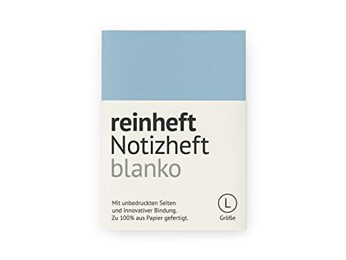 reinheft Notizheft blanko mit Umschlag aus Führerscheinpapier, Inhaltspapier nachfüllbar (Blau, L - Din A5)