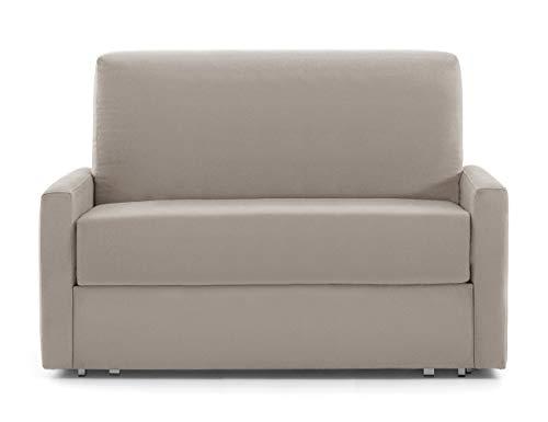 Vida de hogar - Sofá 2 plazas Extensible ANTAX 92x82x49,5x136 cm Cerrado – 120x185 cm Abierto Cama - Color Moka