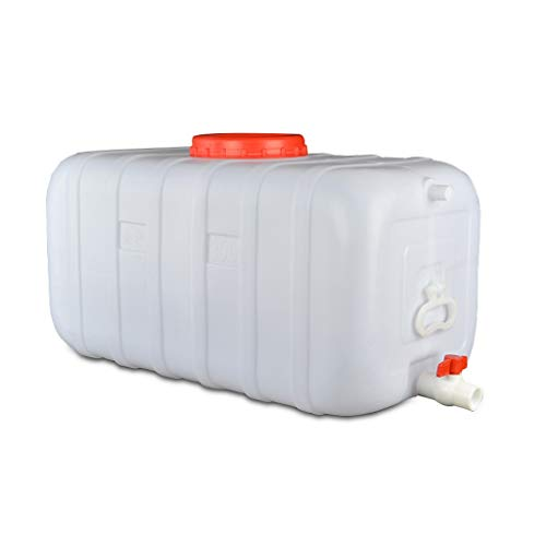 WYNZYYX Ampliación De La Capacidad De Agua Cubos, Hogar De Agua Tanque De Almacenamiento, 25L-100L, Seguro, No Tóxico, Conveniente For El Uso del Automóvil Campo De Viaje, Blanca (Size : 45L)