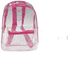 Clear Backpack, Transparent Large Pink