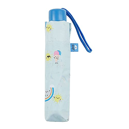 Mr.Wonderful - Paraguas Plegable Manual   Paraguas Antiviento Pequeño y Compacto Ideal para Viajes, Mujer - Verde