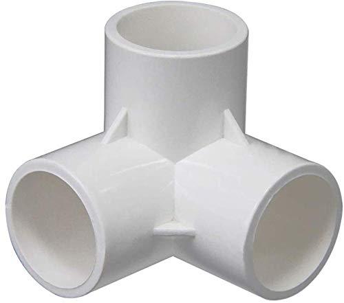 3-weg hoekstuk, PVC, resistent, voor meubels grade thee, buis, bevestigingen van PVC, voor 20/25/32/40/50 mm maat slang, kas, frame meubels 1pcs 32mm