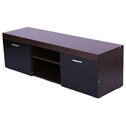 Homcom Moderne TV-kast met twee deuren van hout 140 x 40 x 44 cm