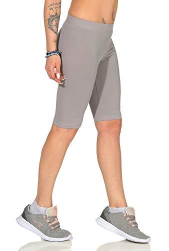 BALI Lingerie - Damen Kurz Leggings Radlerhose Jogginghose - 4300 (S, Grau)
