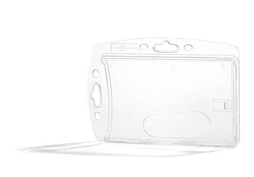 Durable 890519 Hartbox für 1 Betriebs-/Sicherheitsausweis im Format 54 x 85 mm, Packung à 10 Stück, transparent