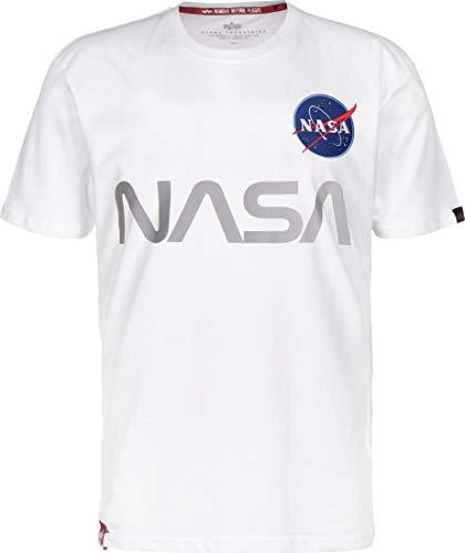 ALPHA INDUSTRIES NASA Reflective Camiseta White