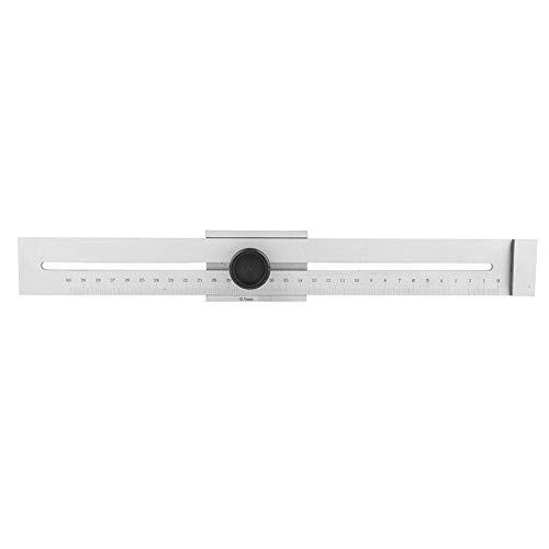 Markierungslehre, 0-300 mm Edelstahl-Lineal Markierungslehre Holzbearbeitungsmesswerkzeug, verchromte Oberfläche, robust & langlebig