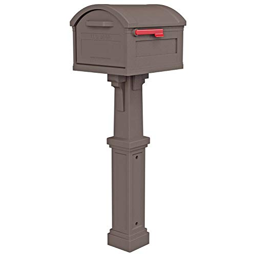 Gibraltar Mailboxes GHC40M01 Grand Haven Decorative Package Mailbox, Mocha