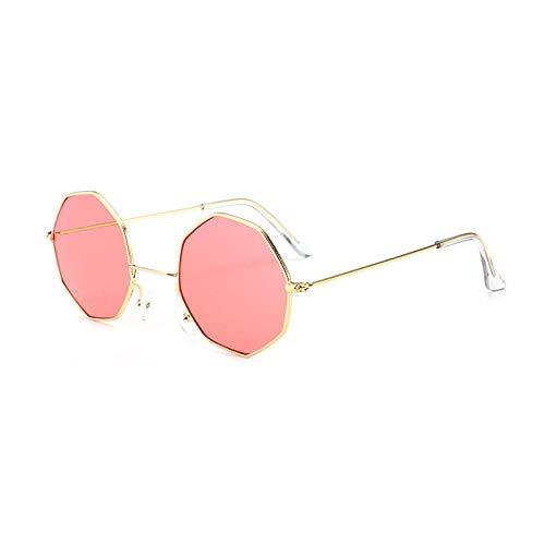 HAOMAO Gafas de Sol con Lentes poligonales de Montura pequeña de Metal para Mujer Gafas de Sol hexagonales Vintage para Hombre 7