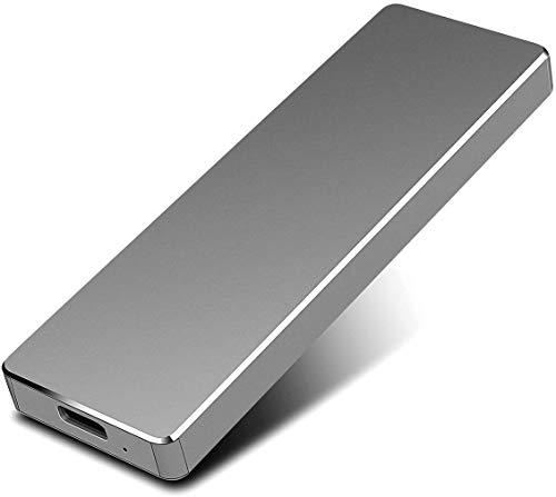 Disco rigido esterno - Disco rigido esterno portatile da 2 TB HDD USB 3.1 esterno compatibile per PC, Mac, desktop, laptop (2TB, Black)
