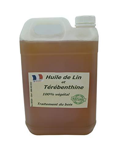 """Huile de Lin + térébenthine pour traiter le bois""""Française"""" 5L"""
