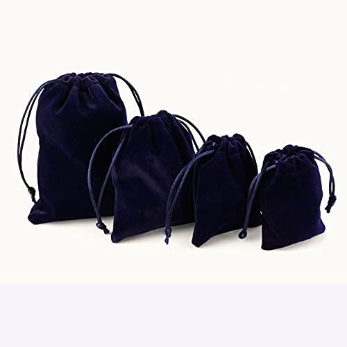 Fukkk bolsa de terciopelo bolsa punta bolsa pequeña bolsa de tela joyería almacenamiento joyería bolsa azul 12X16cm