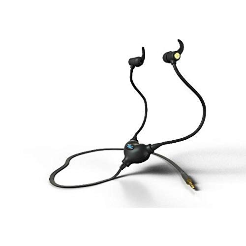 EMRSS EMF Radiation Protection Earphone Headset for Sports & Fitness + Microphone (Black)
