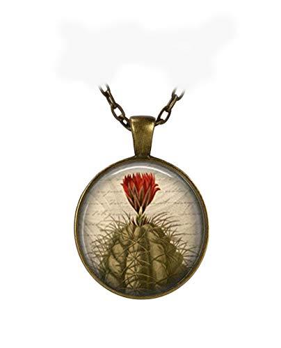 Anhänger Kakteen Wüstenart Rot Blume