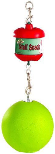 Horsemen's Pride Combo Horse Stall Toy: Apple Scented Jolly Ball and Apple Flavored Snack Holder