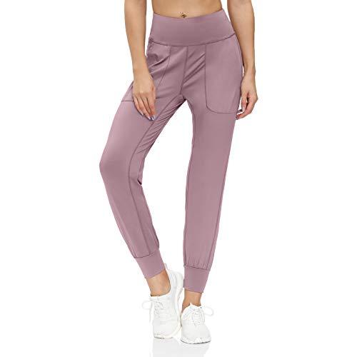scicent Pantalones deportivos para mujer, para yoga, para entrenamiento, salón, hasta el tobillo, con bolsillos, tallas S-XXL