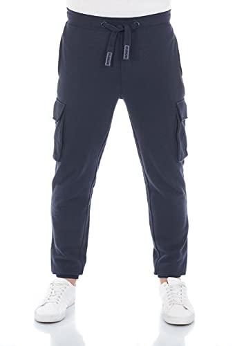 riverso RIVLars - Pantalones de chándal para hombre (tallas S, M, L, XL, XXL, 3XL, 4XL, 5XL), azul marino (19400), XXXL
