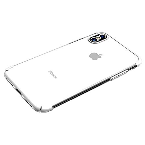 Shockproof LIJM Aardewerk Series For IPhone X/XS Electroplating Transparent Protective Achterkant Van De Behuizing (zwart) Decoratie (Color : White)