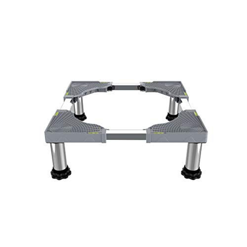 Soporte para Lavadora Base para Lavadora Altura 18-22cm Resistentes Soporte para Refrigerador Retráctil Largo/Ancho 42-66cm Pedestal para Secadoras, Cocinas, Congeladores, 350kg