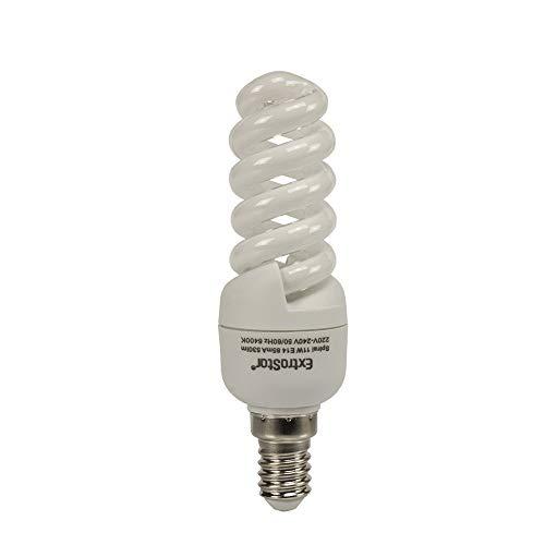 5X Energiesparlampen E14 ExtraStar 11W (=46W) Leuchtmittel Spirale Sparlampe 6400K Kaltweiss FE787 (11 Watt)