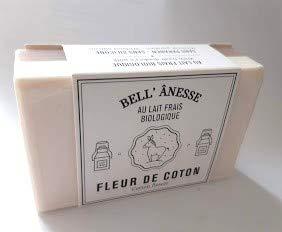 Lote de 2 Jabón leche Fresco organico de burra organico Perfume flor de algodón- doble cara dolce i exfoliante 125gr