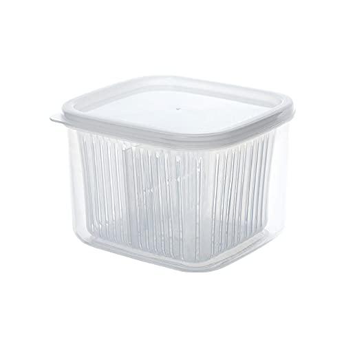 Liuying Caja de Almacenamiento, Caja Especial de Frutas y Verduras para frigorífico de Cocina, Transparente