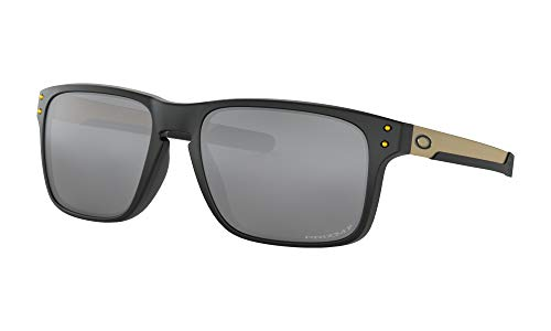 Price comparison product image Oakley Holbrook Mix Sunglasses Matte Black Gold with Prizm Black Polarized Lens + Sticker