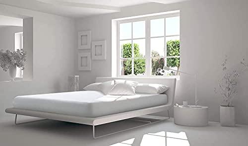 Softness - Coprimaterasso in 100% cotone Mollettone double face, 30 cm, fabbricazione...