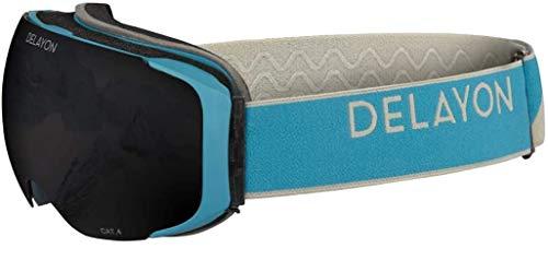 DELAYON Skibrille Explorer Goggle Brillentauglich (OTG) blau/schwarz