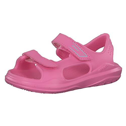 Crocs Swiftwater Expedition Sandal Kids, Sandalia con Pulsera Unisex Niños, Rosa (Pink Lemonade/Pink Lemonade 6m3), 32/33 EU