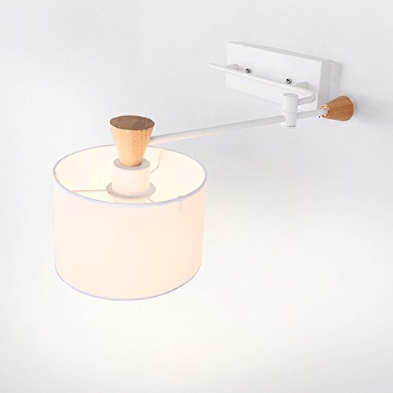 LED Wandleuchte Kreative Einfache Wandleuchte E27 Lampenhalter Zimmer Nachttischlampe Geeignet Für Wohnzimmer, Küche, Schlafzimmer, Gang, Restaurant, Hotel,schwarz (Farbe   Weiß, Größe   -)