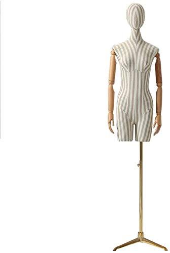 LLSS Maniquí para exhibición de telaTailor Torso Maniquí Busto Desfile de Moda Ropa de diseñador Modelos de Vestidos de Novia Maniquíes para Tienda Cuerpo de maniquí con