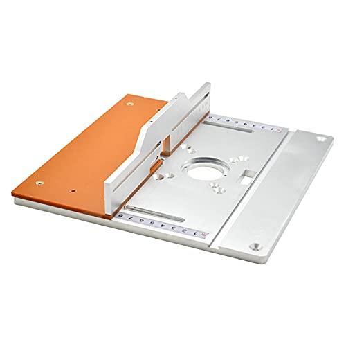 Mesa de enrutador de aluminio Placa de inserción para bancos de carpintería Fresadora de madera eléctrica Máquina de recorte de placa de giro Mesa de guía (D)